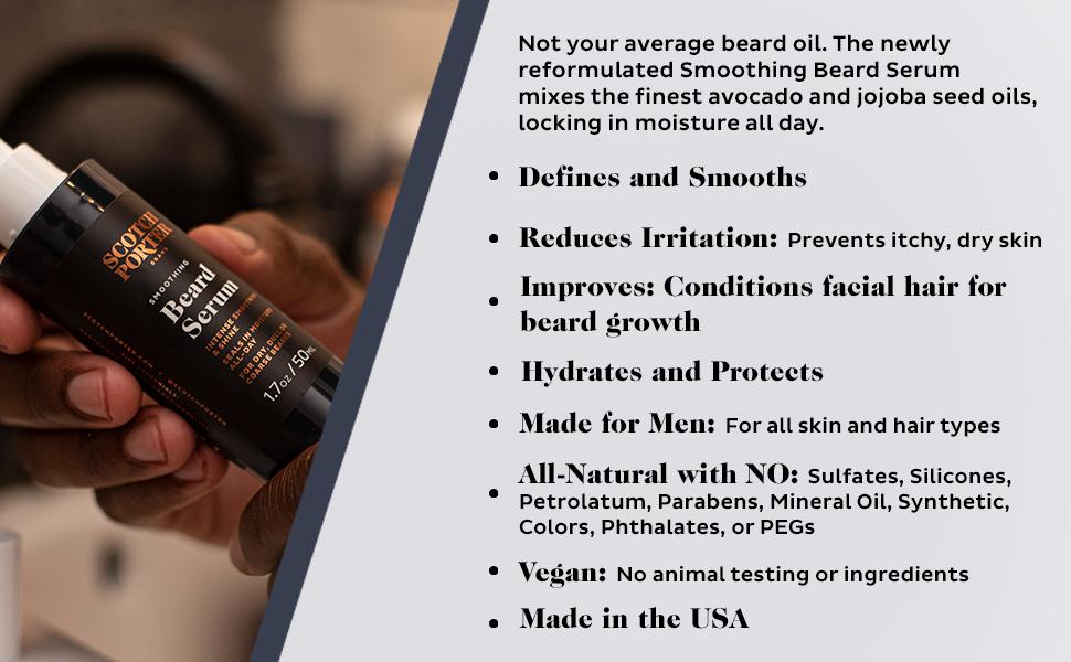 Scotch Porter Beard Serum Defines and smooths reduces irritation made for men