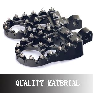 Black MX Style Wide Fat Foot Pegs Kit For Harley Davidson Dyna Sportster Bobber