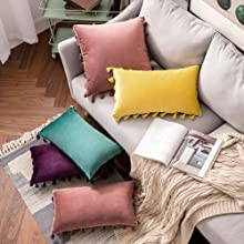 tassel boho beautiful pillow covers shams
