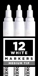 White Paint pens for Rock Painting, Stone, Ceramic, Glass, Wood