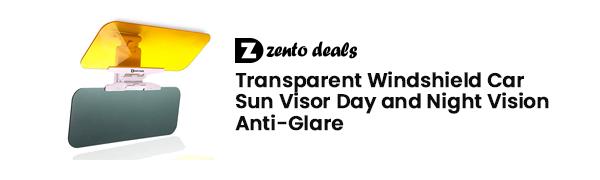 Zento Deals Transparent Windshield Car Sun Visor Day and Night Vision Anti-glare SV3