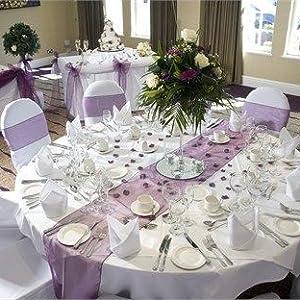 Organza table  runner for wedding decor