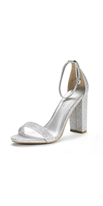 silver heels for women