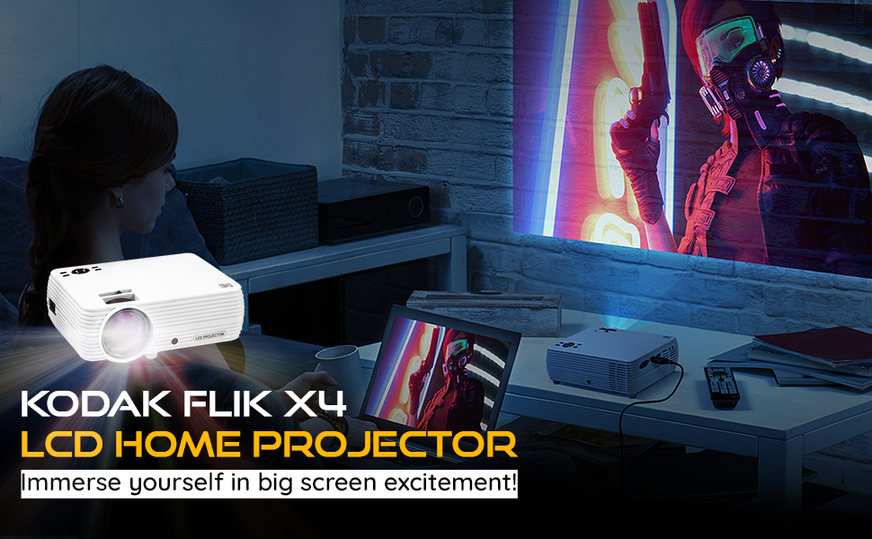 KODAK FLIK X4 480P LCD MULTI MEDIA HOME PROJECTOR