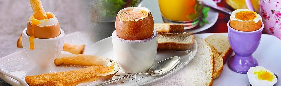 Duronic EB35 Hervidor para huevos eléctrico – hasta 7 Huevos – Cocedor con termostato y minutero – Huevos duros, huevos mollet, huevos pasados por ...