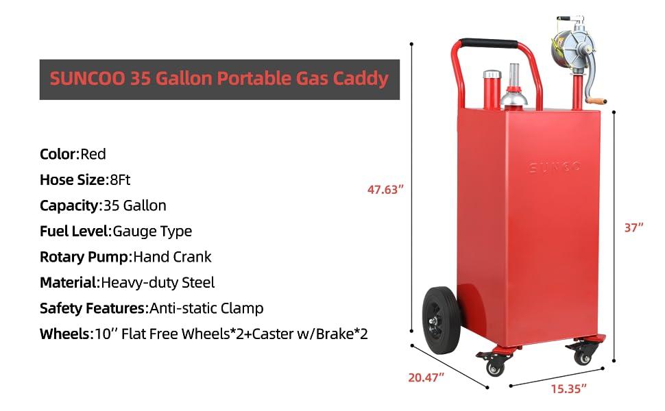 SUNCOO 30-gallon fuel caddy