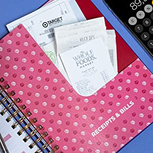 Pockets for Monthly Bills amp; Receipts