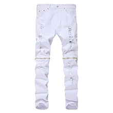 white jeans for men skinny slim fit
