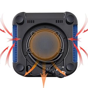 air cooling system for blender motor