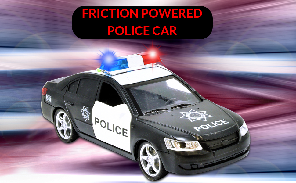 friction powered police car