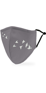 Adult Reusable, Washable Cloth Face Mask With Filter Pocket - Birds In Flight