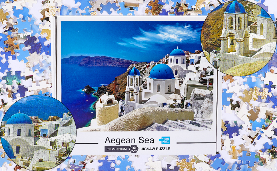 Family Fun Game and Educational Toys for Kids Most Popular 1000 Pieces Jigsaws Floor Puzzles Included A Bonus Poster Pup Go Aegean Sea Jigsaw Puzzle 1000 Piece Puzzles for Adults and Teenagers