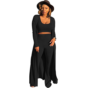 Black 3 Piece Outfit For Women