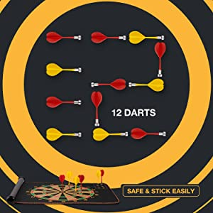 dart board with magnetic darts