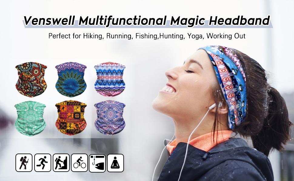 Headband Pink Leaves Headwear Sport Sweatband Yoga Head Wrap for Men Women