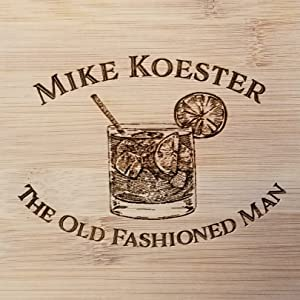 Engraved highball drink on bamboo cutting board personalized with name custom engravings
