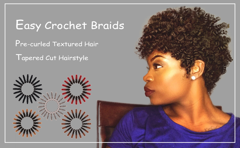 Amazon Com Queentas 5 Pack Synthetic Braiding Hair Braids 20inch Saniya Curl 12mm Crochet Braids Small Bouncy Curly 20roots Pack 1b 30 Beauty