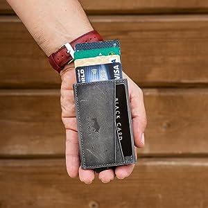 Geldbörse Slim Wallet Leder Kartenetui