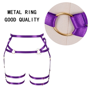 Harness Garter Belt+purple