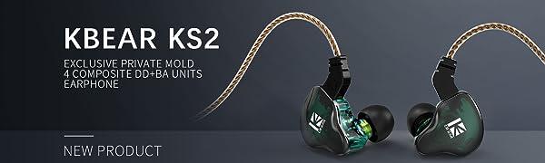 Kinboofi KB EAR KS2イヤホン 10mm複合振動版ダイナミックを搭載1BA+1DDハイブリッド装着性良好