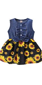Toddler Girl Sunflower Dresses