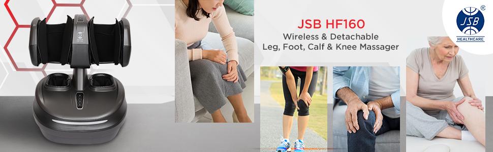 jsb hf160 wireless calf foot leg massager machine