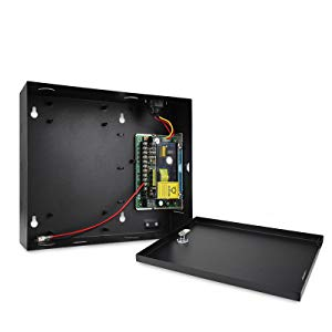 2 RFID Keypad Reader+Electronic Magnetic Lock+Metal Exit Button+Power Supply Box Track In and Out