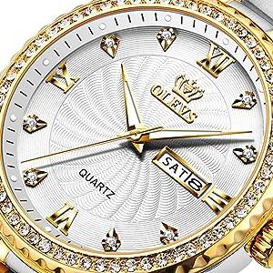 Stainless Steel Classic Analog Quartz Watch Christmas Day Gifts reloj pulsera de hombre