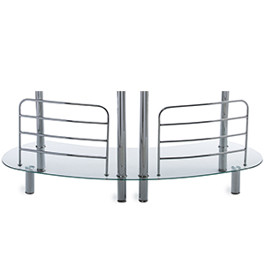 6 chrome polished Supports For added stability with floor levers