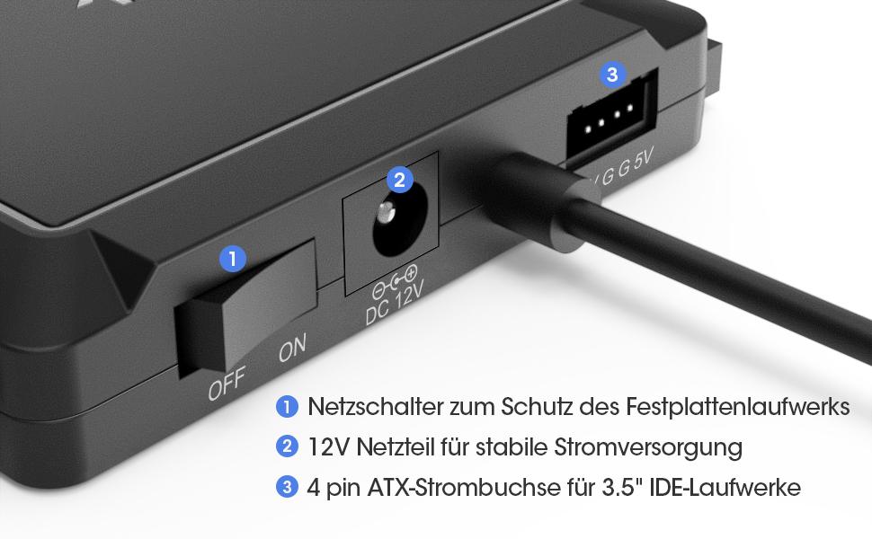 USB 3.0 zu IDE/SATA Universal-Festplattenadapter