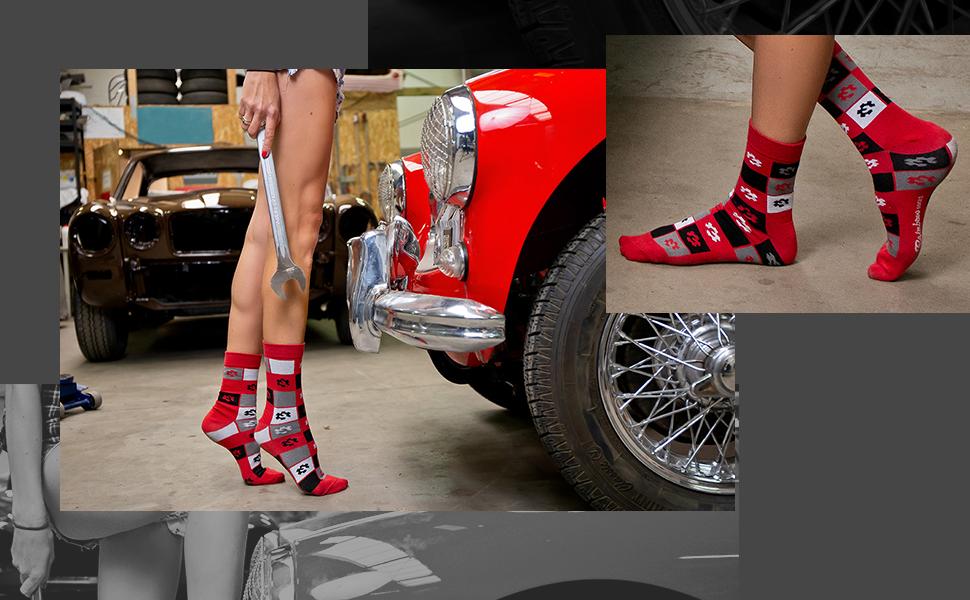 3 Pares Mujer Hombre Calcetines Mechanico Regalo Rainbow Socks