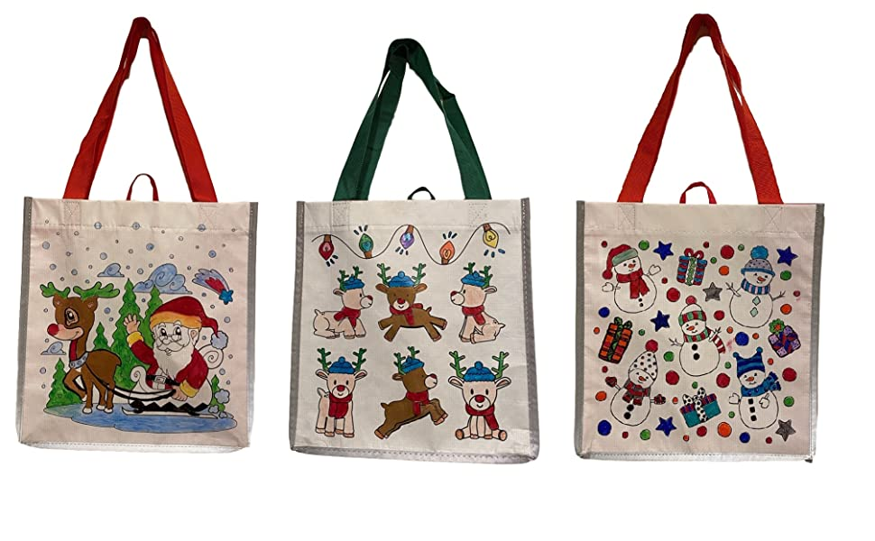 shopping gift bags DIY color in totes