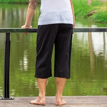 mens loose relax fit comfy flowy casual summer bbeach travel cargo pants shorts cotton with pockets