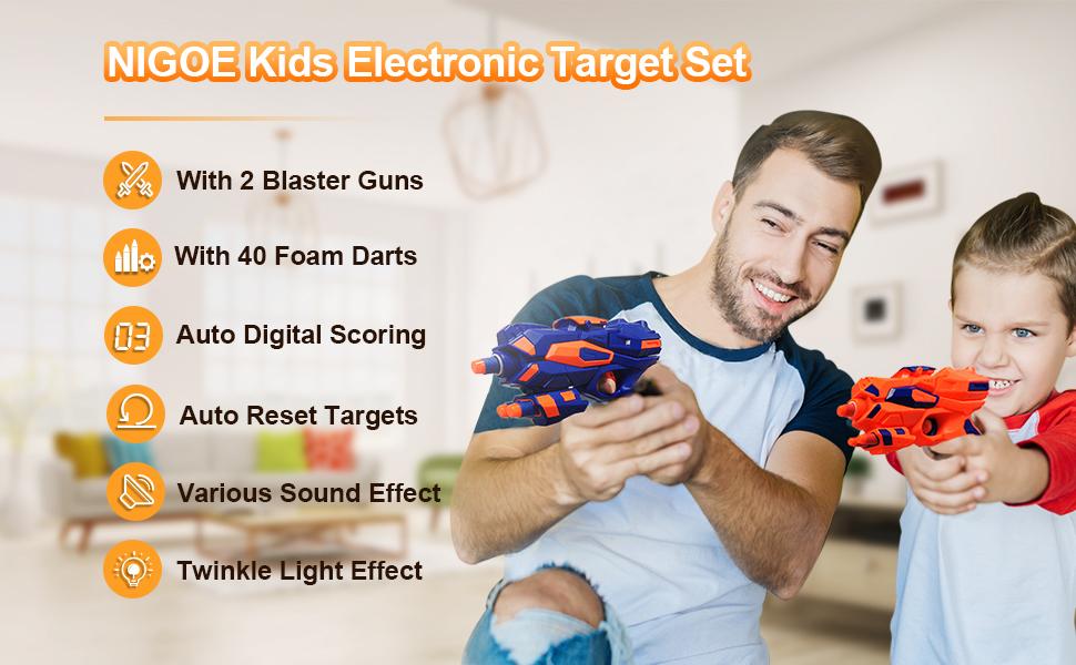 Features of NIGOE electronic digital target set