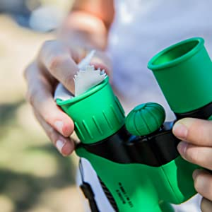 Think Peak Toys Binoculars for kids green boys gift safe durable