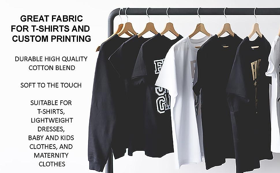 FabricLA Cotton Spandex Fabric Textile Fashion Design Apparel Clothing Swimsuit Mask DIY Stretch