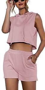 crop tops shorts sets
