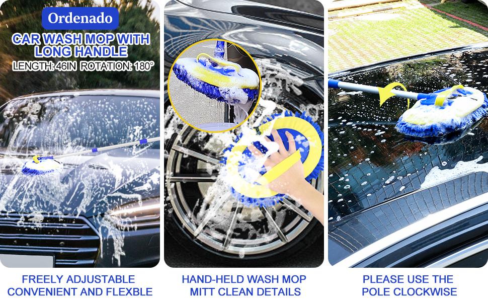 car wash brush microfiber mop