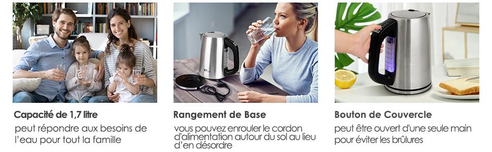 Bouilloire Électrique Thermostat Réglable