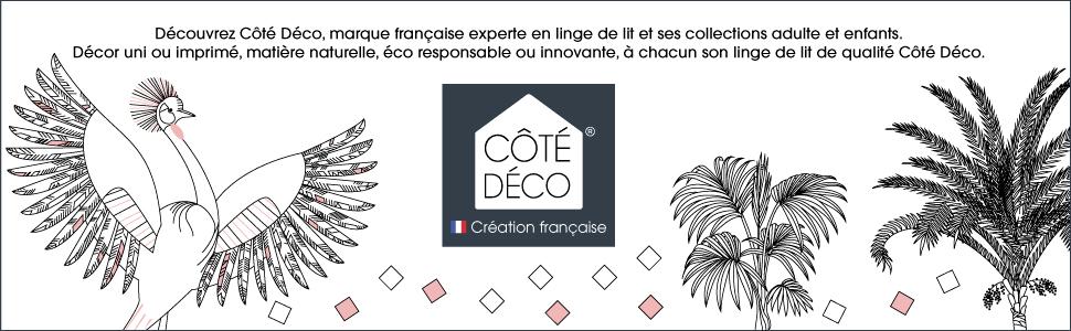 marque française experte linge de lit collections adulte et enfant uni imprimé matière naturelle éco