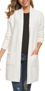 Open Front Cardigans Sweater