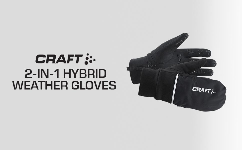 Craft Sportswear Storm Wind//Waterproof Bike XC Ski Fleece Lined Glove small