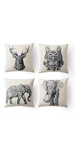 elephante pillows little elephant pillow case cushion cover elephant elephant 18x18 pillow covers