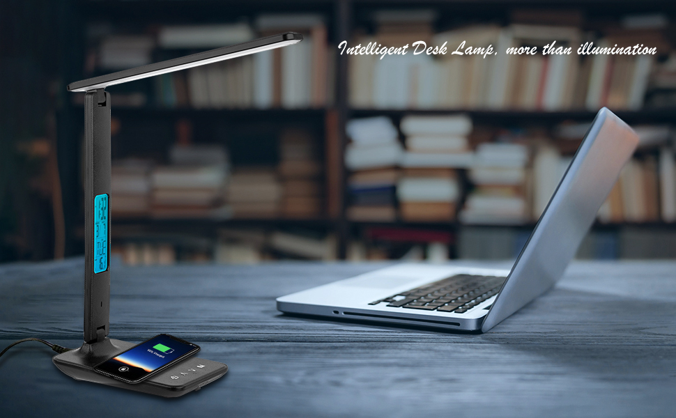 LED Desk Lamp with Wireless Charger