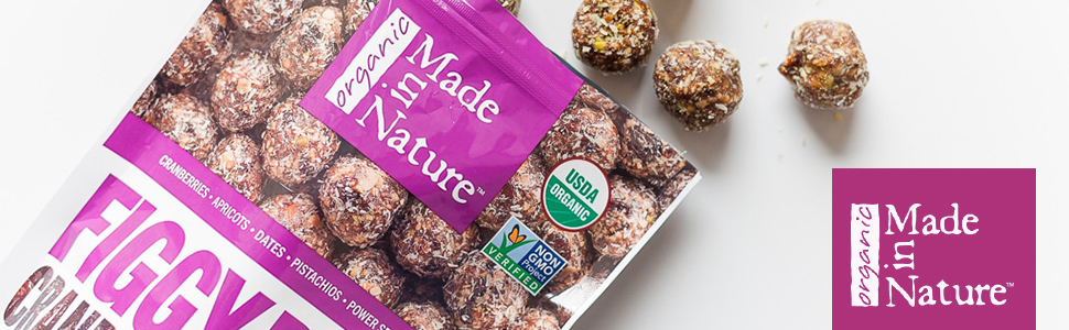 made in nature cranberry pistachio figgy pops organic unbaked energy balls fruit nut supersnack