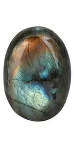 Natural Labradorite Pocket Palm Stone
