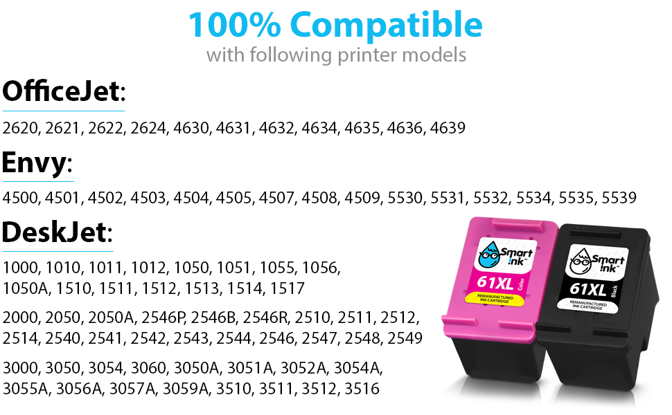 61XL CH563WN Black Ink for HP Deskjet 3051A 3052A 3054 3056A 3510 3511 3512 3516