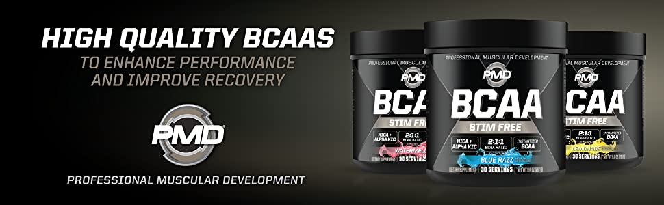 Three amazing flavors of branch chain amino acids, stimulant free to help improve recovery