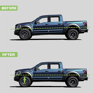 2.5 inch Leveling Lift KIT fit Dodge RAM 1500 2500 3500 2WD 1994-2018 SCITOO Compatible with Front Leveling kit