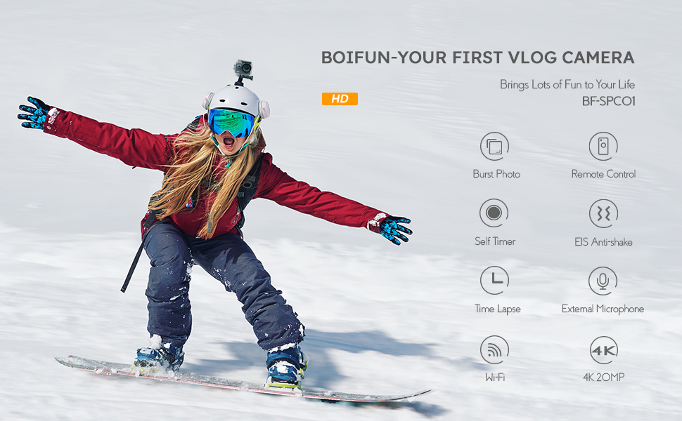 BOIFUN SPC01: Your first VLOG action camera